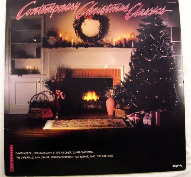 Contemporary Christmas Classics-Amy Grant~Evie~Pat Boone~Chapman~Meece LP33� EUC