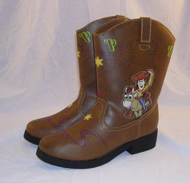 Disney Toy Story Woody Cowboy Boots Child 9T Light Up Pixar Andy Bullseye New With Tags Irregular