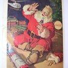 Coca Cola Christmas 1962 Santa Claus/Train National Geographic advertisement Vintage Coke