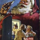 Coca Cola Christmas Santa 1950 National Geographic advertisement Vintage Coke