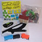 Train Farm Set-Battery Powered Locomotive,Coal/Freight Car,Caboose,Buildings,People,Animals Plastic