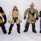 4 Figures:Fire Chief Chap Mei, Mystic Knight Tir Na Nog Torc Lugad, Lanard Pilot,Zizzle Will Turner