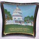 United States Capitol Mini Souvenir Glass Dish Washington D.C.Translucent Free Shipping Vintage EUC