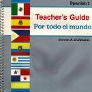 Spanish 1 Por Todo El Mundo Abeka A Beka Teacher's Guide For Parts A & B 1999 Guemann