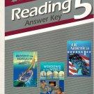 Reading 5 Answer Key Teacher 1997 Abeka A Beka Home-School