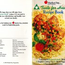 Taste For Health Recipe Book-Market Day Food Cooperative Paperback 1995 Cookbook, Cooking Tips