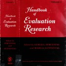 Handbook Of Evaluation Research Volume 1~Struening/Guttentag 1975 Psychological Study Social Issues