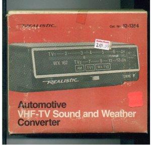 Automotive VHF-TV Sound & Weather Converter Realistic