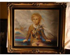 18th Century Portrait of Boy (Signed)