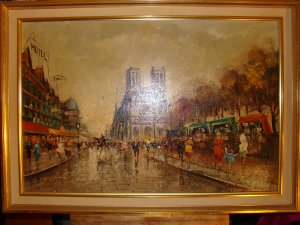 Autumn In Paris At Notre Dame Cathedral (Signed)