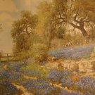 Country Bluebonnets(Lithograph) By Porfirio Salinas