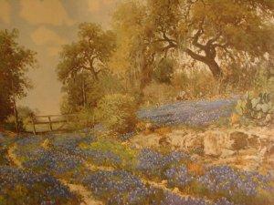 Country Bluebonnets(Lithograph) By Porfirio Salinas