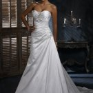 FW319 Promotional Sweetheart A-line Satin Wedding Dress