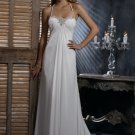 FW322 Free Shipping Halter A-line Chiffon Bridal Wedding Dress