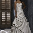 FW335 Free Shippinng Sweetheart A-line Satin Bridal Dress
