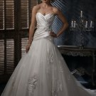 FW335 Free Shippinng Sweetheart A-line Satin and Organza Bridal Gown