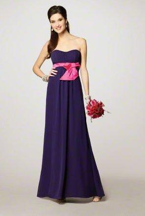 FB0004 Sweetheart A-line Floor-lengh Chiffon Bridesmaid Dress