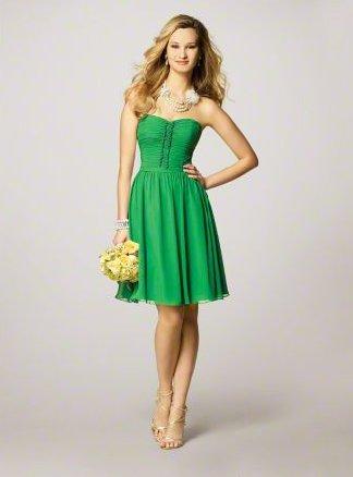 FB0007 Sweetheart A-line Knee-lengh Chiffon Bridesmaid Dress