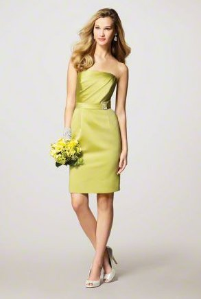 FB0010 A-line Sleeveless Knee-length Satin Bridesmaid Dress