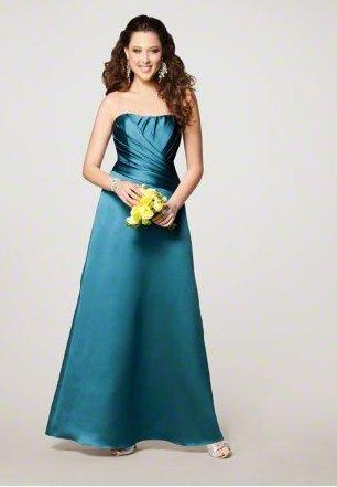 FB0015 Sweetheart A-line Floor-length Satin Bridesmaid Dress
