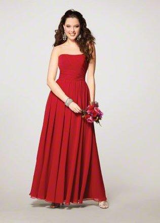 FB0017 Sweetheart A-line Floor-lengh Chiffon Bridesmaid Dress