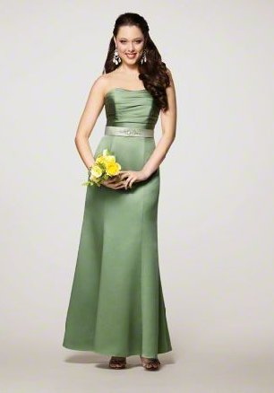 FB0018 Sweetheart A-line Floor-length Satin Bridesmaid Dress