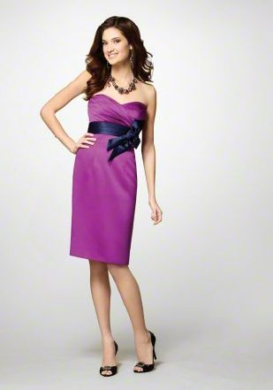 FB0020 Sweetheart A-line Knee-length Satin Bridesmaid Dress