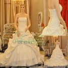 R0003 Real Sample A-line Strapless Taffeta Bridal Gowns