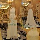 backless chiffon halter bridal dress