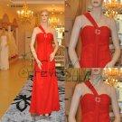One-shoulder Sheath Chiffon Evening Gowns