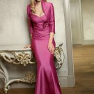 V0105 New Style Sweetheart Mermaid Rose Red Mother Dresses