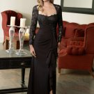 V0108 High Quality Long Sleeves Sheath Lace Mother Dresses
