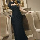V0112 Free Shipping Two Pieces A-line Dark Blue Mother Dresses
