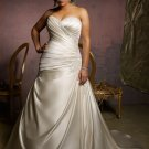 V0123 New Arrival A-line Sweetheart Plus Size Wedding Dresses