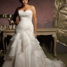 V0124 Free Shipping Mermaid Sweetheart White Plus Size Wedding Dresses