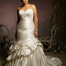 V0127 High Quality Sweetheat wiht Beaded Mermaid Plus Size Wedding Gowns