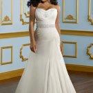 V0132 Custom Made Sweetheart Taffeta A-linePlus Size Wedding Dresses