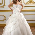 V0143 High Quality Sweetheart Ball Gowns Beaded Organza Wedding Dresses