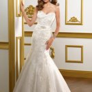 V0144 Custom Made Sweetheart Embroided Mermaid Lace Wedding Dresses 2012