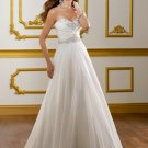 V0146 Elegant Sweetheart A-line Chiffong Embroided Bridal Gowns