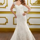 V0150 Elegant Removable Straps Sweetheart Mermaid Lace Bridal Gowns