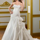 V0152 Custom Made Strapless A-line Ruffles Ivory Bridal Gowns