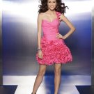 V0162 Free Shipping One-shoulder Pink  Homecoming Dresses