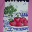 Crocheted Hanging Buttonless Dishtowel Apple