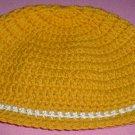 Boys Mustard with White Stripe Beanie Hat