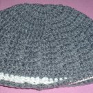 Boys Grey with White Stripe Beanie Hat