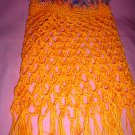 Lacey Orange Poncho for Girl with fur