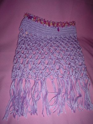 Lacey Lilac Purple Poncho for Girl with fur