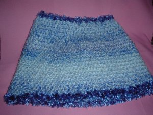 Soft Blue Ponchette Very Thick and Warm with fur