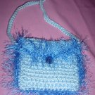 Coin Purse Light Blue with fur
